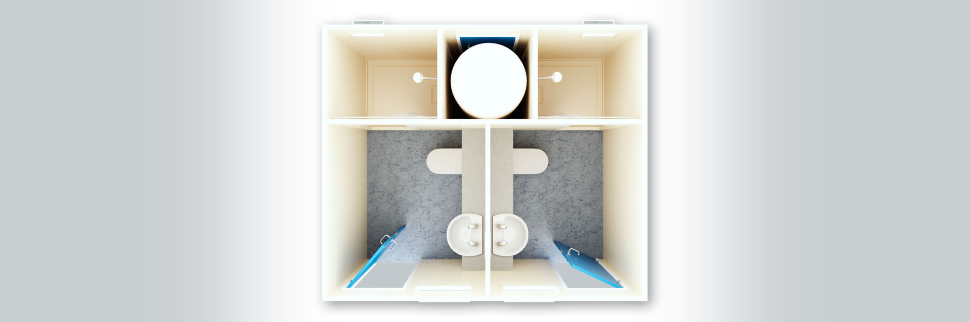 Deluxe Portable Shower & Toilets from Bunkabin