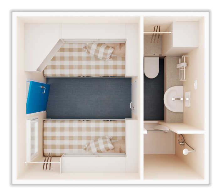 Bunkabin Junior Twin Sleeper Unit
